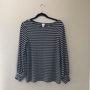 Tops - Chico's Striped Bell Sleeve Top